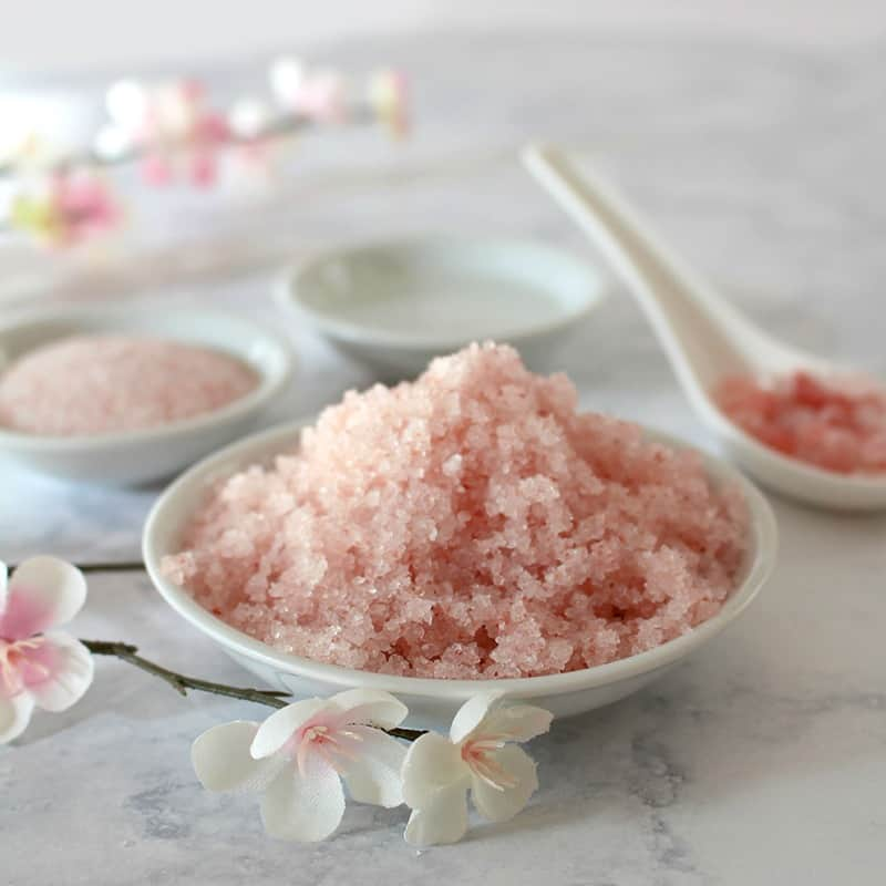 DIY Coconut Rose Body Scrub