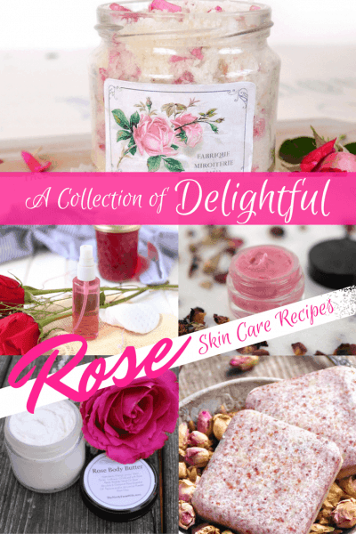 Look no further for the best DIY Rose Skincare Recipes! Learn how to make DIY Rosewater Toner, Rose Sugar Scrub, Rose Anti-aging Lotion and more!