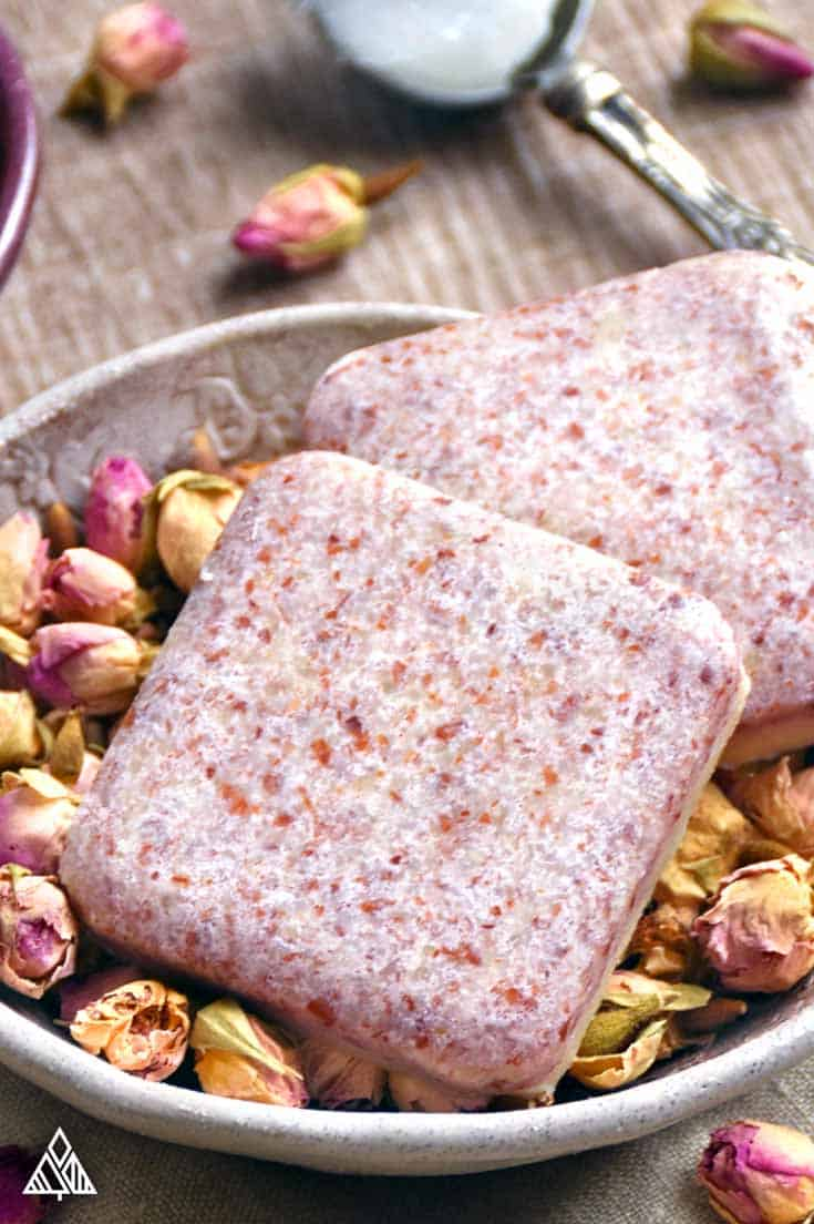 DIY Rosewater Lotion Bar Recipe