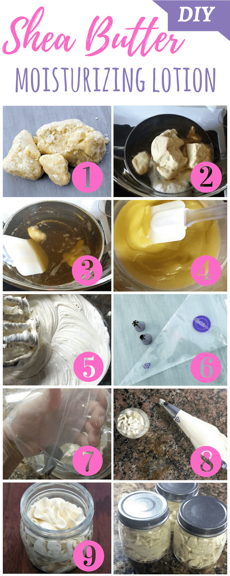 Easy DIY Shea Butter Lotion Recipe