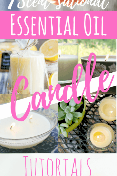 Candles are a perfect gift for any occasion, but they contain so many toxic ingredients. Try these DIY essential oil candle recipe tutorials for your next gift-giving day! Non-toxic and natural, and great smelling. #candlemaking #candlerecipe #essentialoils #essentialoilrecipes #soycandles #diygifts