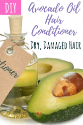 DIY healthy hair avocado oil hair conditioner for dry and damaged hair.