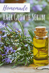 DIY healthy hair growth serum for hair loss.