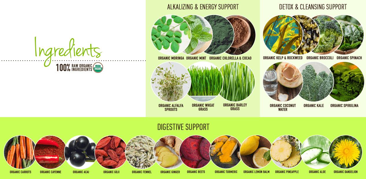 Detox Organics Ingredients