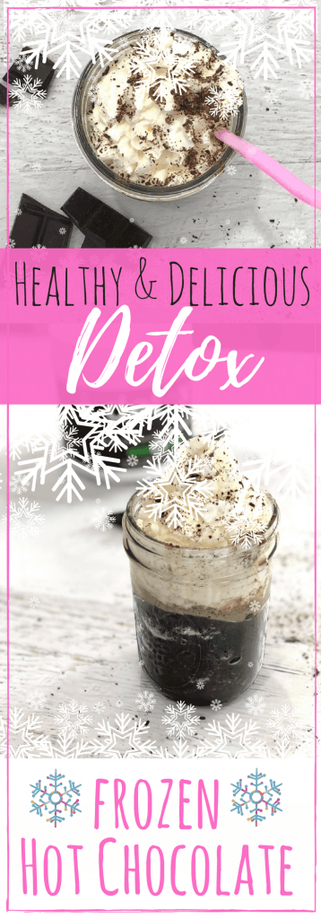 Easy Healthy Frozen Hot Chocolate Recipe to Lose Weight & Detox! #ad #raw #nongmo #detox #hotchocolate #organic