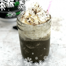 Easy Healthy Frozen Hot Chocolate Recipe to Lose Weight & Detox! #raw #nongmo #detox #hotchocolate #organic