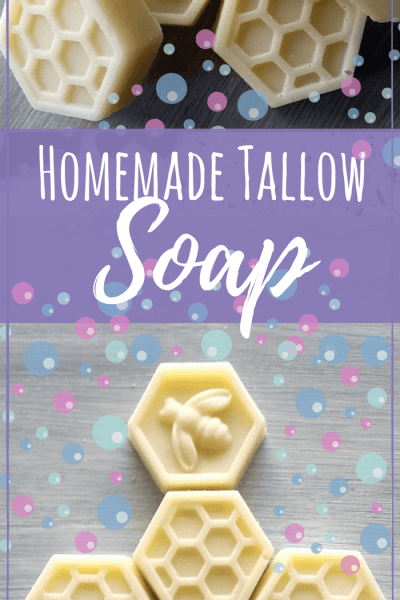 This homemade tallow soap recipe will help moisturize your skin very well since tallow is similar to our own skin properties. #soapmaking #soaprecipes #skincarerecipes #skincare