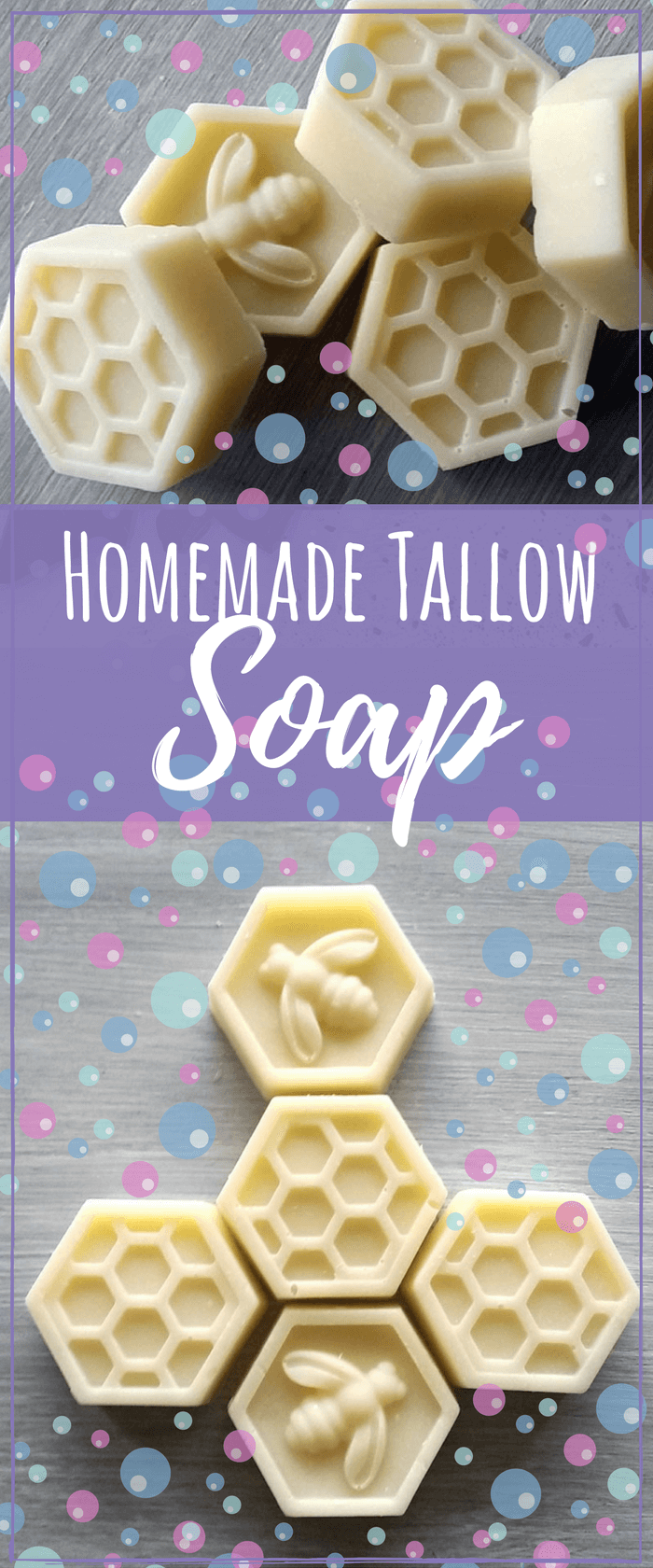 This homemade tallow soap recipe will help moisturize your skin very well since tallow is similar