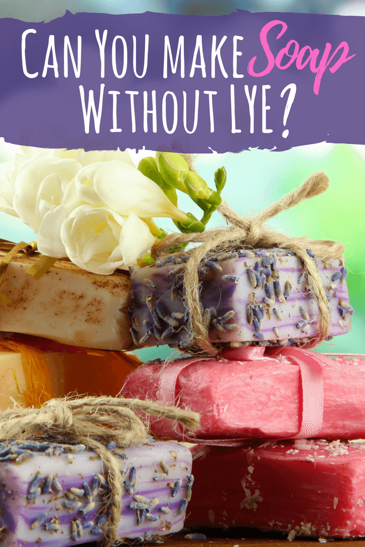 Lye might sound scary, and it is, but can you make soap without it? Learn some soap recipes to safely use this ingredient. #diysoap #soaprecipes