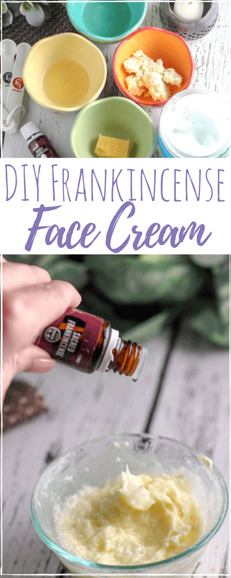DIY frankincense face cream is the perfect anti-aging skin care you can trust. Non-toxic and all natural, you will love using this face cream daily. #antiaging #antiagingcream #AntiWrinkle #diyskincare #moisturizing  #skincare