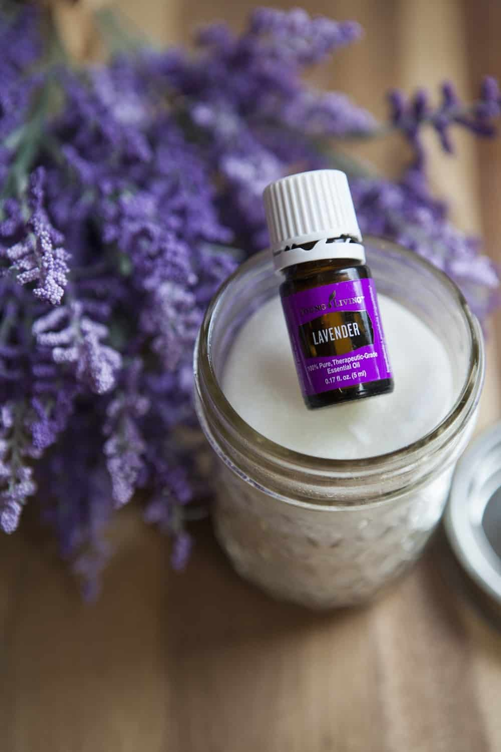 jar of diy makeup remover wipes with lavender