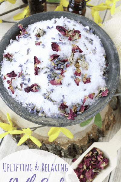 DIY Uplifting + Relaxing Bath Soak Recipe with Essential Oils