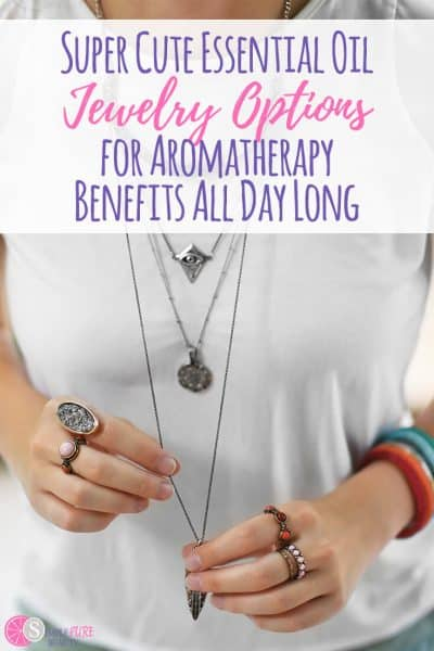 There are so many benefits of essential oils, but you can't exactly carry a diffuser around with you all day. These essential oil jewelry options are sure to fit the bill! #essentialoils #jewelry #aromatherapy