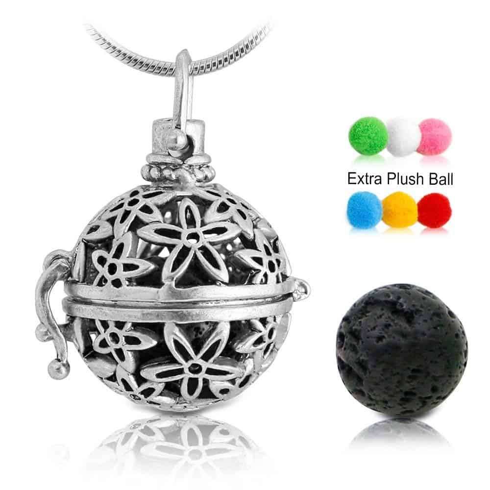 Round Aromatherapy Pendent Necklace