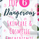There are so many chemicals in cosmetics and skincare products these days. Learn which cosmetic ingredients you should avoid at all costs. With these beauty tips you will be able to read your makeup and skincare labels and know which ones are safe. A great place to research your cosmetic ingredients is in the safe cosmetics database. It is possible to find or make your own SAFE beauty products! #beauty #skincare #cosmetics #beautytips #naturalskincare #chemicalfree