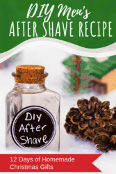 When it comes to perfect Christmas gift ideas, this DIY aftershave recipe for men is seriously so simple! Stop buying the aftershave at the store, and give this homemade aftershave recipe a try instead. It's simple, natural and will leave your man's face smelling amazing and not dried out! Don't forget the man in your life with this simple aftershave recipe! #DIY #homemade #aftershave #men