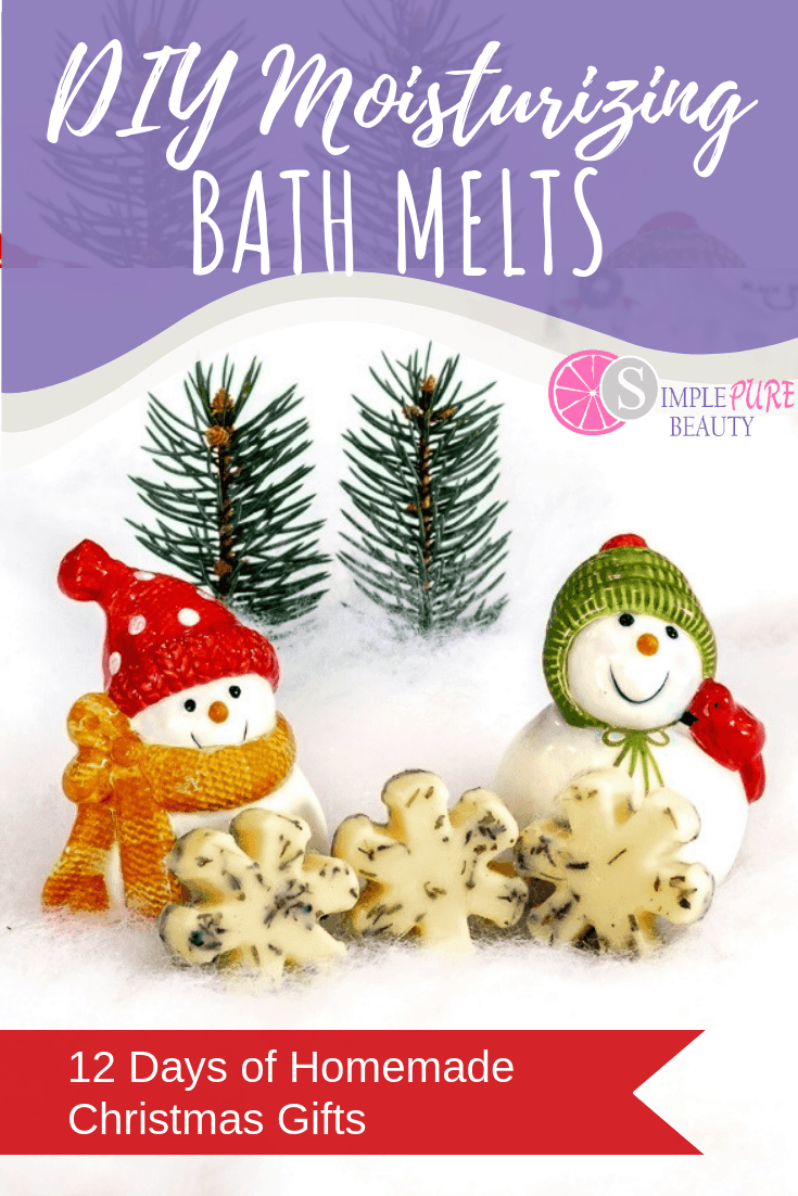 DIY bath melts are one of the best Christmas gift ideas, ever! Not only are they natural and homemade, but these bath melts are also scented with lavender essential oil as well! If you've always wondered how to make bath melts, this simple bath melts recipe is for you! #bathmelts #DIY #homemade