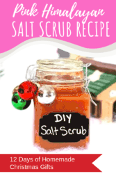 If you've been searching for a homemade salt scrub that will truly stand out, this DIY Pink Himalayan Salt Scrub recipe is perfect! It's natural, simple and smells amazing, plus with the holidays coming up, it makes one of the best homemade gifts for Christmas, ever. This holiday season, gift a homemade gift that no one will ever forget! This homemade salt scrub recipe is perfect! #homemade #DIY #saltscrub