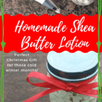 You won't find a homemade gift smoother than this Shea Butter lotion. Whipped shea butter last a long time and is a great moisturizer for hands, feet and face. Homemade Shea Butter is one DIY Christmas Gifts for Family that everyone is certain to love! #homemade #lotion #sheabutter #DIY #Christmas