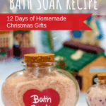 Pink Himalayan Bath Soak certain to be topping the list for DIY Christmas Gift Ideas this year. Say goodbye to store-bought and welcome in this super simple DIY bath soak that will make the holiday bright. Help moisterize the skin and fight the itchy skin with this easy homemade bath soak recipe! #homemade #DIY #bathsoak #holiday