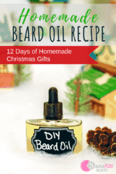 Looking for the perfect homemade gifts for Christmas for the man in your life? This DIY beard oil recipe is just what he needs. 100% homemade, and simple as well, this beard oil is certain to make his holiday softer and less scratchy! #beardoil #giftsforhim #holiday #DIY #oils