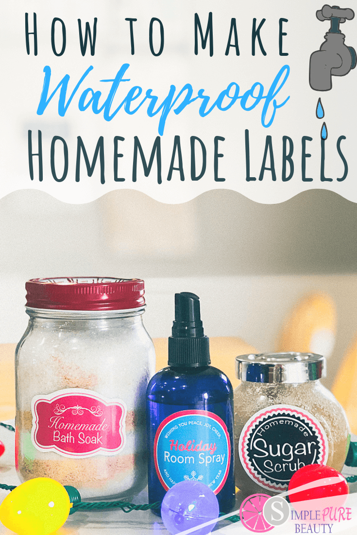 Want to learn how to make waterproof labels for your bottles and jars? You work really hard on your DIY recipes. Whether you're making sugar scrubs, bath soaks or room sprays, you want them to look pretty and stay that way. That's why a cute waterproof label is a must! #diy #labels #waterproof