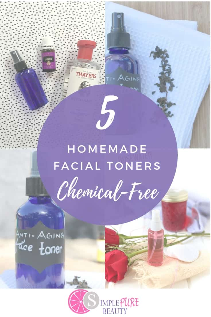 These homemade face toner recipes are simple and easy! DIY toner that is chemical free and simple to do! #facetoner #DIY #beauty #homemade #skincare
