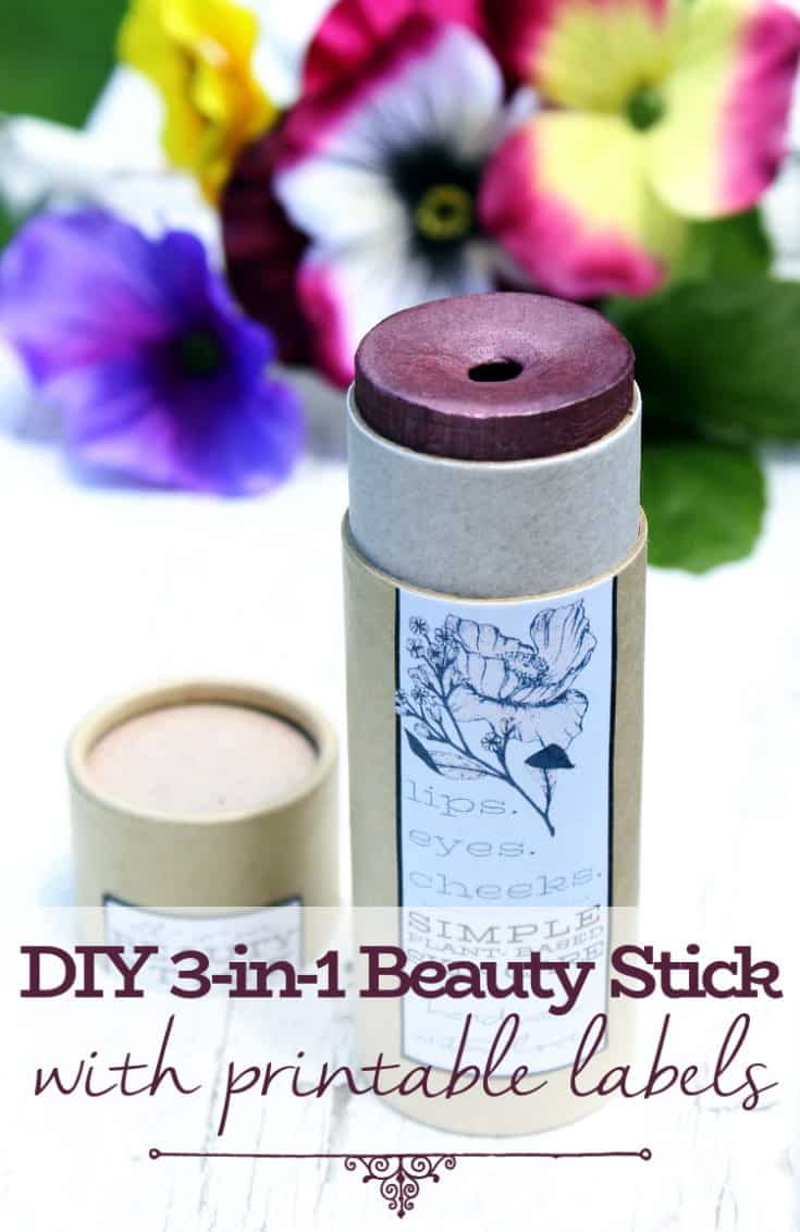 All-in-One Beauty Stick DIY for Lips, Eyes & Cheeks