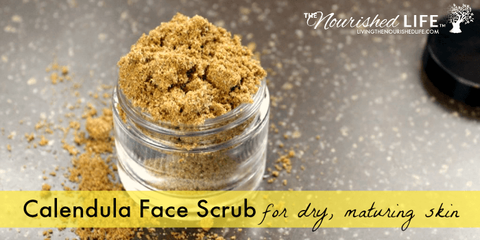 DIY Calendula Face Scrub (for Dry/Maturing Skin)