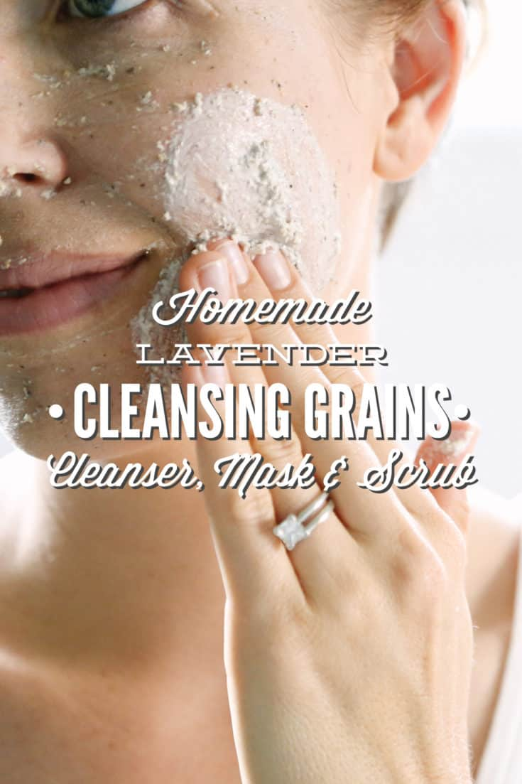 Homemade Lavender Cleansing Grains: Facial Cleanser, Mask, or Scrub