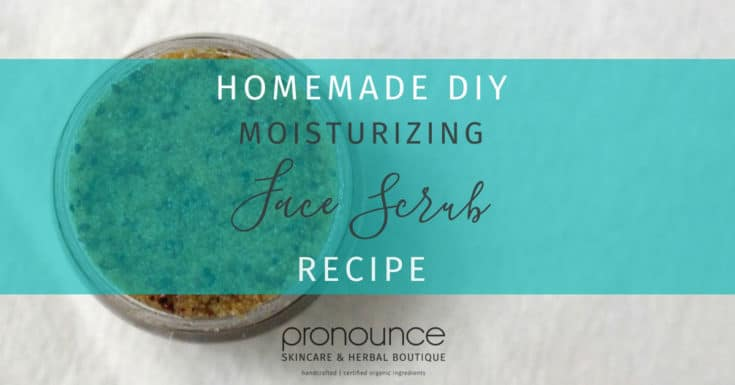 DIY Moisturizing Facial Scrub