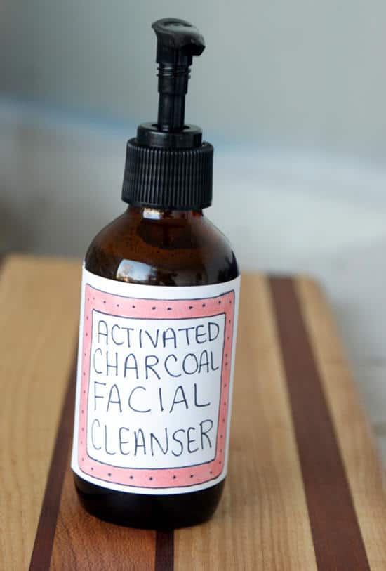 Activated Charcoal Facial Cleanser Recipe for Acne Prone Skin