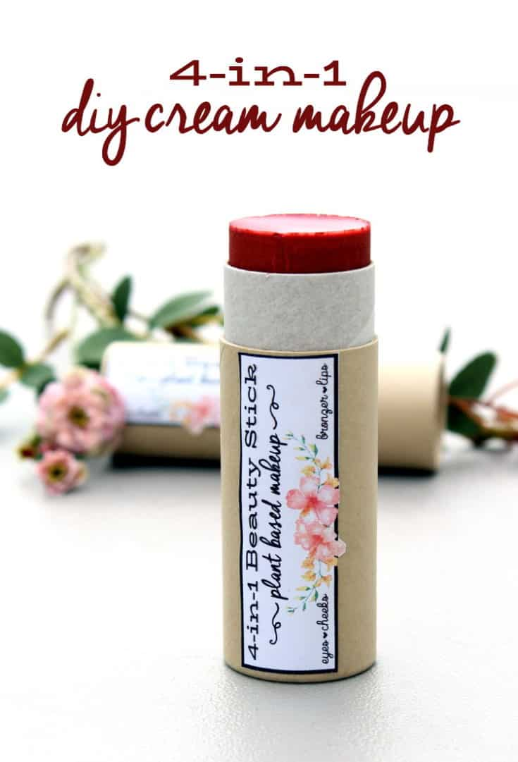 Plant Based Makeup: DIY Rose Scented 4-in-1 All Over Cream Beauty Stick