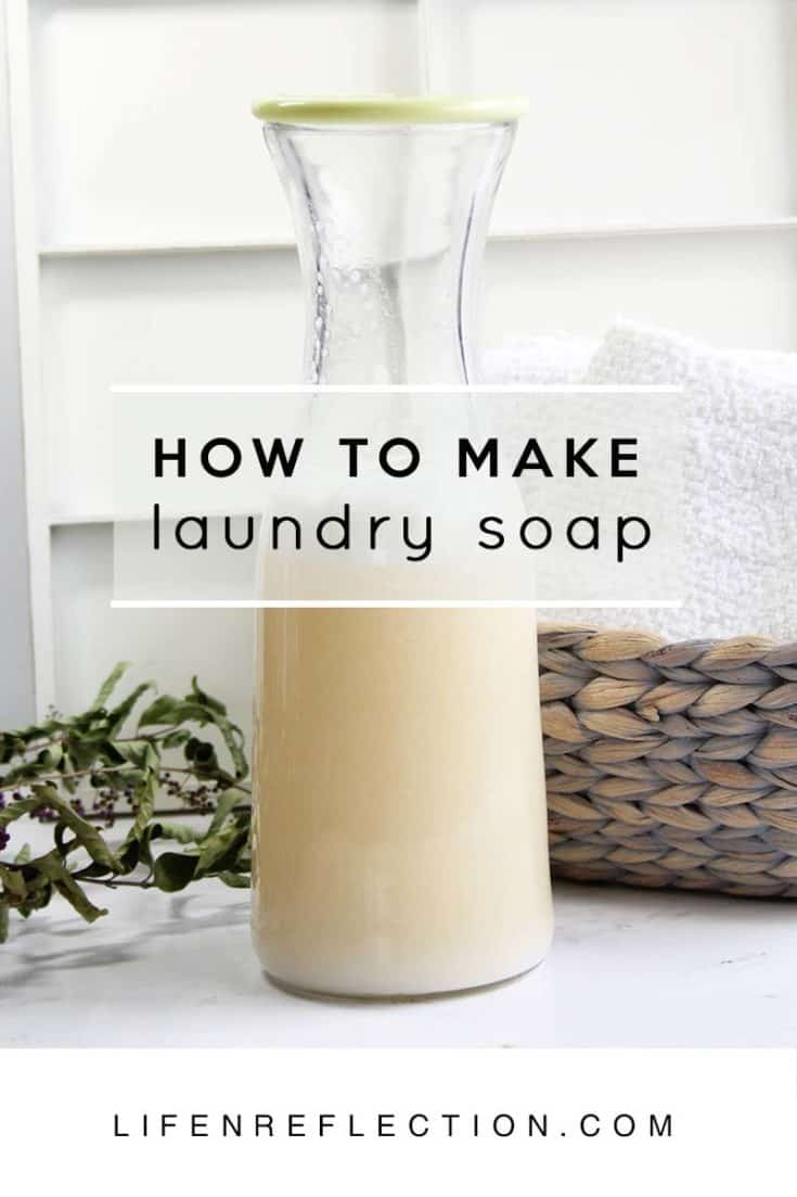 Homemade Liquid Laundry Soap, Borax Free & HE Approved