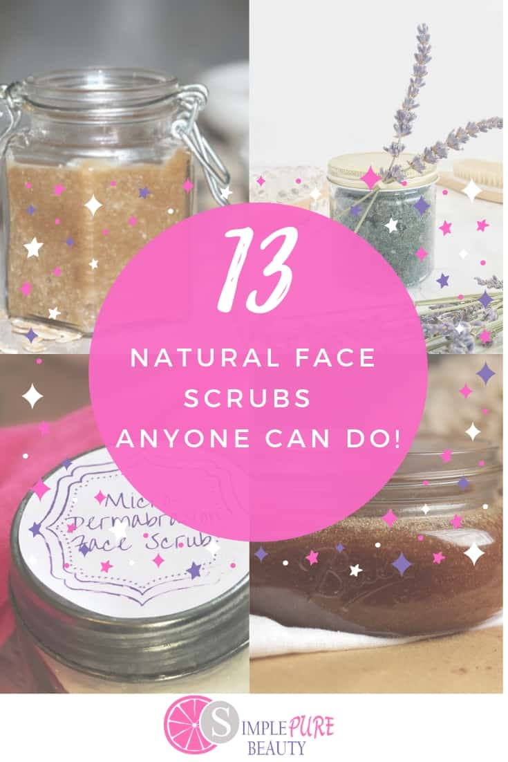 Don't miss out on these homemade face scrub recipes. They are natural and DIY and are easy to make. Great for dry skin and for exfoliating, you'll never want to buy any over-the-counter products again. Some use natural face scrub for wrinkles whole others are for aging, but don't forget about those who have oily or dry skin as well! If you take care of your skin daily, you'll start to notice that the glow will come back in your skin! #DIY #homemade #facescrub #beauty