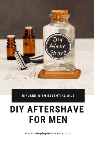 This DIY aftershave recipe for men is seriously so simple! Stop buying the aftershave at the store, and give this homemade aftershave recipe a try instead. It's simple, natural and will leave your man's face smelling amazing and not dried out! Don't forget the man in your life with this simple aftershave recipe! #diy #aftershave #essentialoils