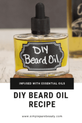 This DIY beard oil recipe is just what your man needs. 100% homemade, and simple as well, this beard oil is certain to make his beard softer and less scratchy! #beardoil #giftsforhim #DIY #oils