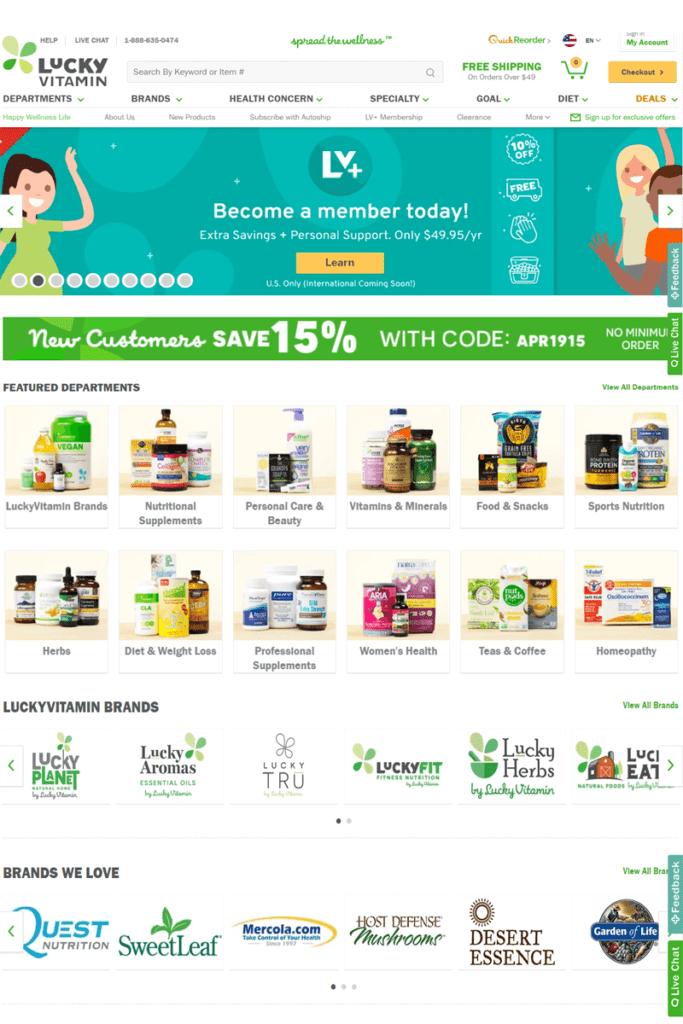 Lucky Vitamin Membership Benefits