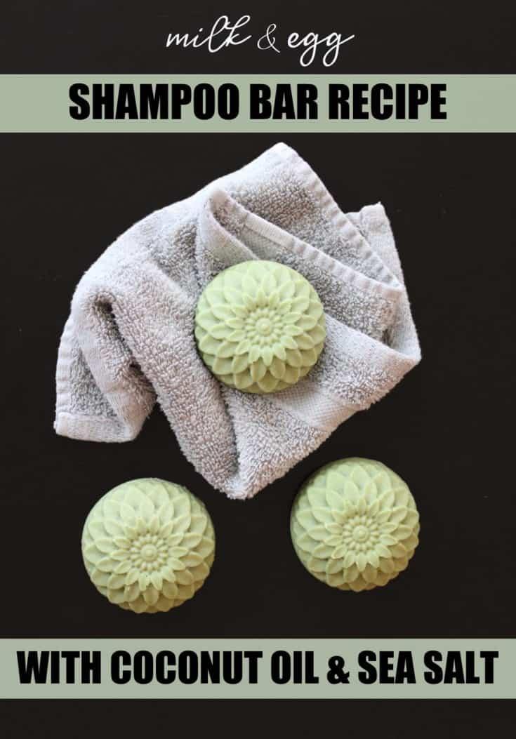 Sea Salt Shampoo Bar Recipe with Milk & Egg