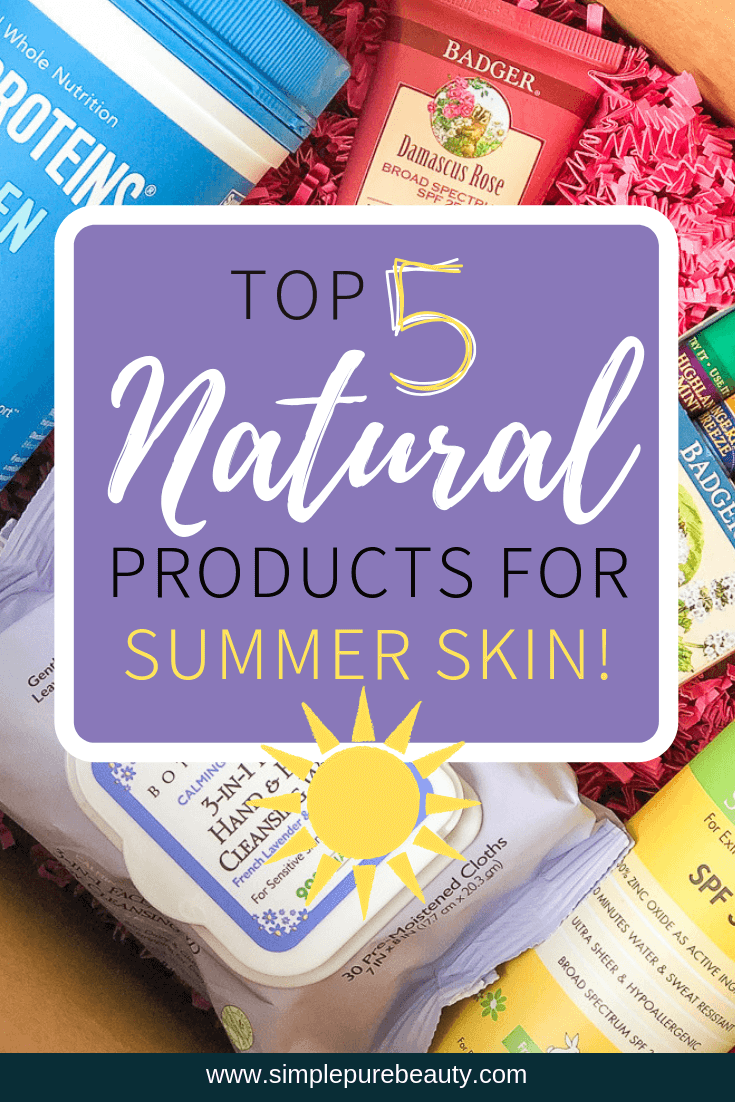 Sometimes purchasing safe, natural products can be a tad bit expensive. But I have found a way to save money on my favorite natural skincare products and get some awesome support along the way!Check out these 5 Top Natural Skincare Products for Summer Skin! #skincare #summer #sunscreen #luckyvitamin #savings #natural