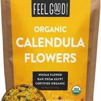 Organic Calendula Flowers - Whole - 16oz Resealable Bag (1lb) - 100% Raw From Egypt - by Feel Good Organics