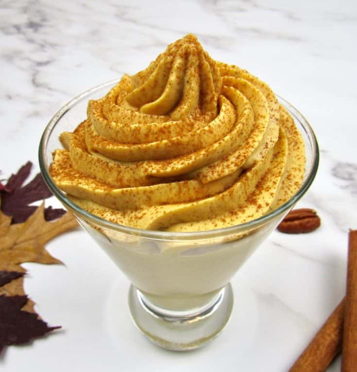 Easy Pumpkin Cheesecake Mousse - Keto and Low Carb