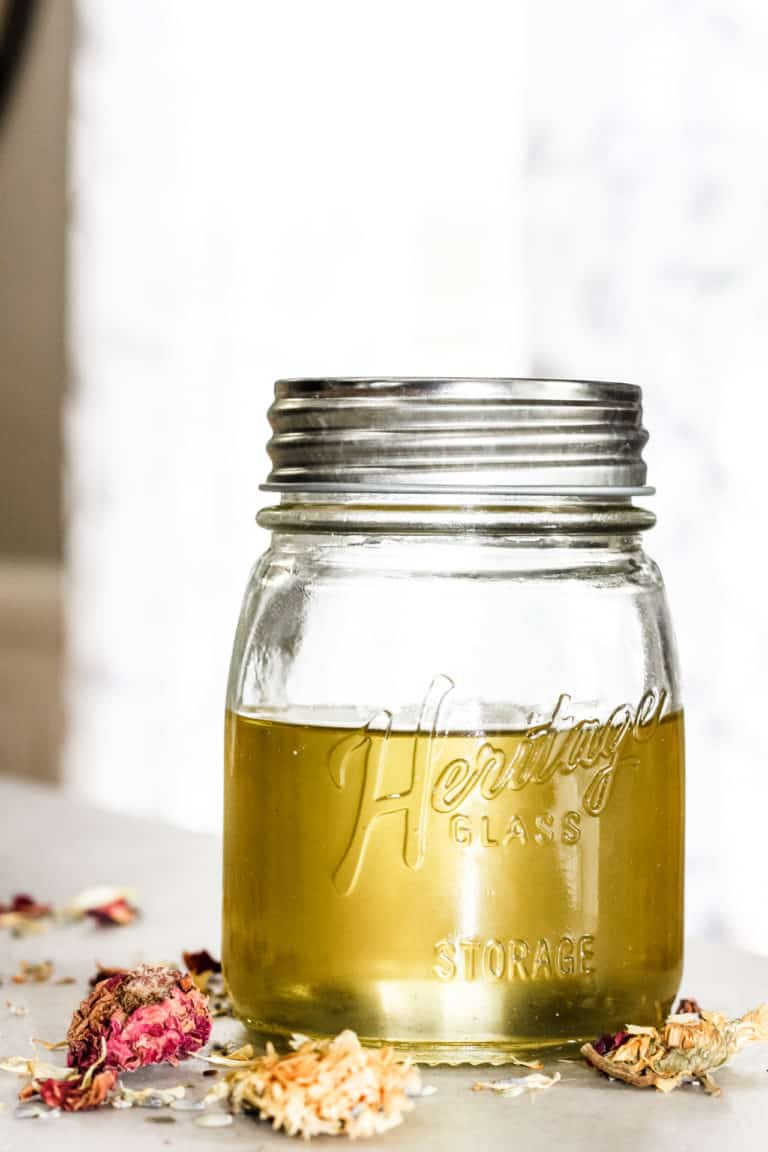 How to Quickly Make Herbal Infused Carrier Oils for the Skin