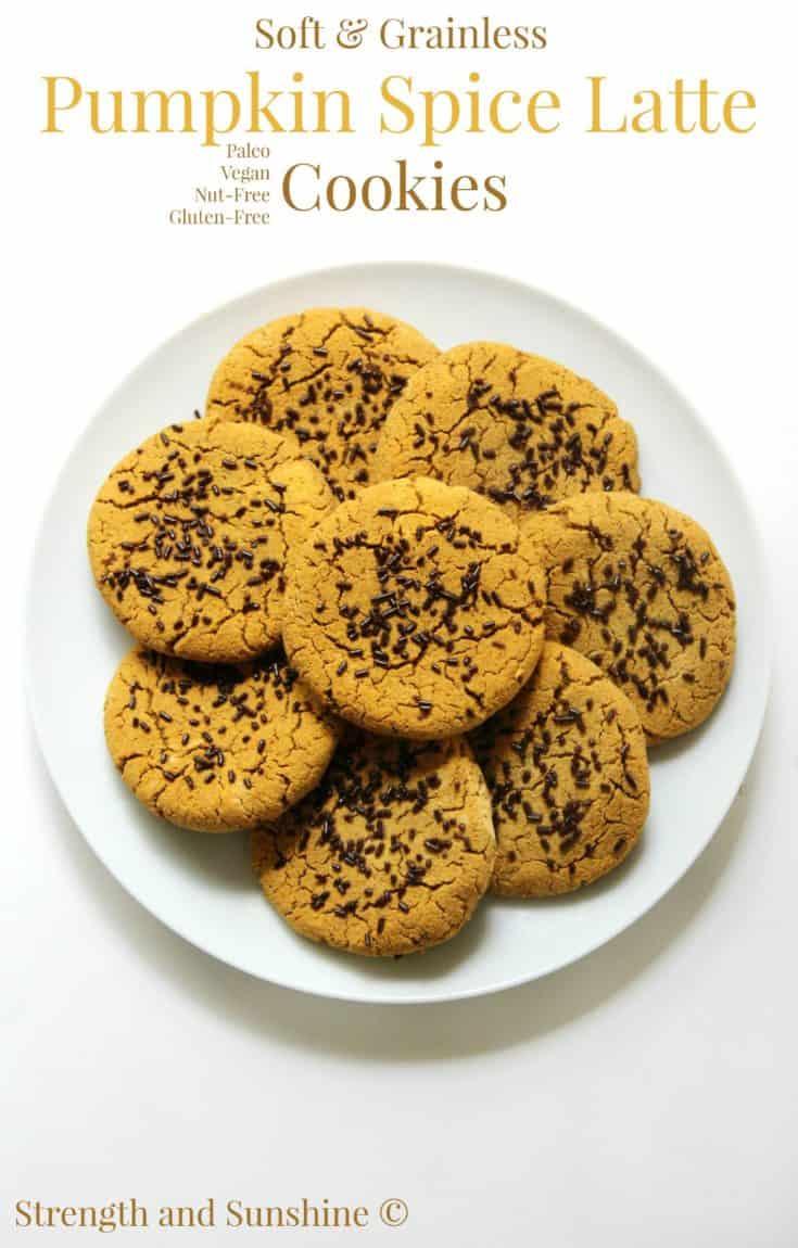 Soft & Grainless Pumpkin Spice Latte Cookies