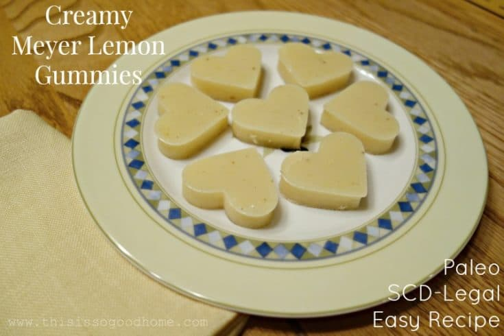 Creamy Meyer Lemon Gummies (Easy Recipe, Paleo, SCD-Legal)