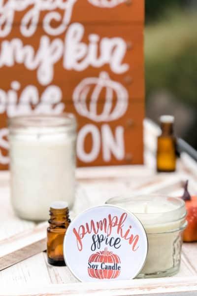 Pumpkin Spice Essential Oil Candle Recipe for Fall