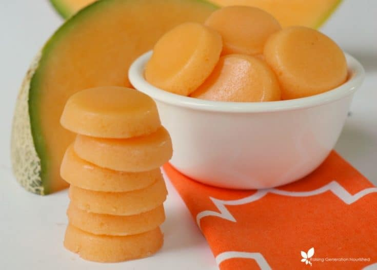 Melon Gummies (a delicious way to eat more gelatin!)