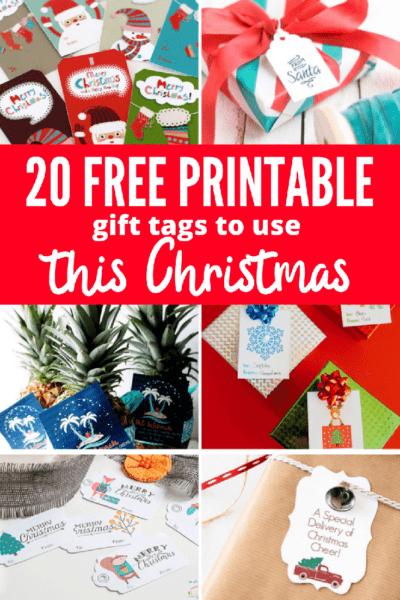 20 Free Printable Gift Tags to Use this Christmas