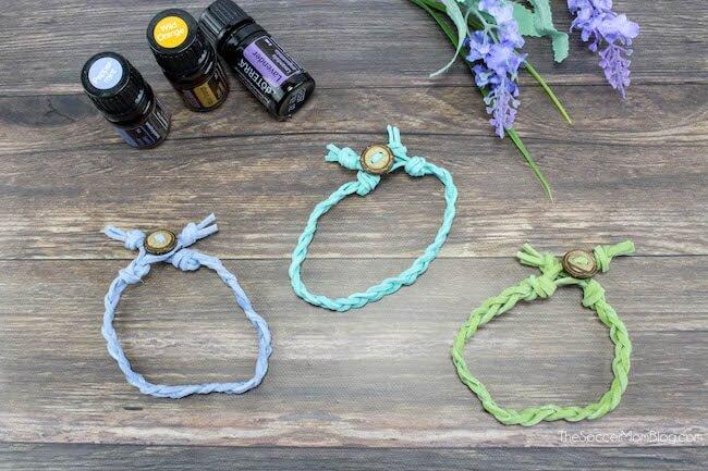 DIY Braided Essential Oil Diffuser Bracelets