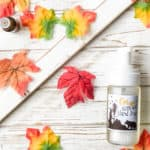Bottle of fall foaming hand soap: autumn woods essential oil blend